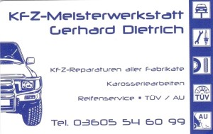 KFZ-Meisterwerkstatt Gerhard Dietrich Elfrieda Kallmerode